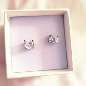 14k GF White Sapphire Earrings